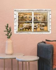 Window The Gate Open Sheep 24x16 Poster poster-landscape-24x16-lifestyle-22