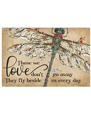 They Fly Beside Us Every Day Dragonfly 17x11 Poster front
