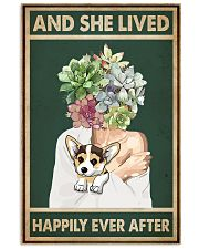 She Lived Happily Corgi Succulents 11x17 Poster front