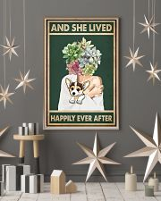 She Lived Happily Corgi Succulents 11x17 Poster lifestyle-holiday-poster-1