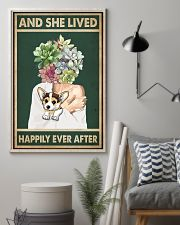 She Lived Happily Corgi Succulents 11x17 Poster lifestyle-poster-1