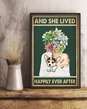 She Lived Happily Corgi Succulents 11x17 Poster lifestyle-poster-3