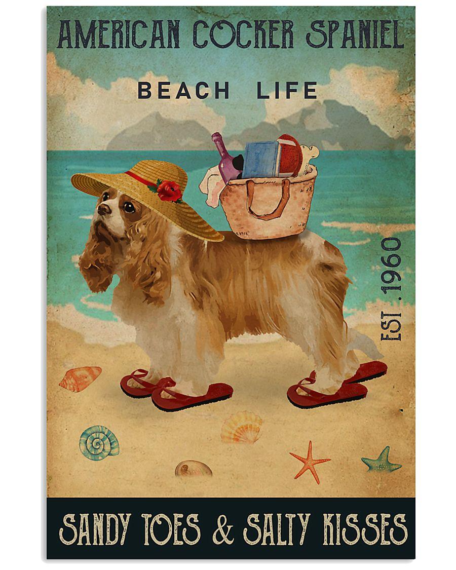 Beach Life Sandy Toes American Cocker Spaniel 11x17 Poster