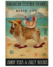 Beach Life Sandy Toes American Cocker Spaniel 11x17 Poster front