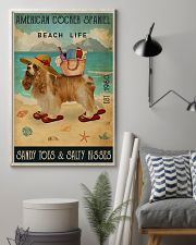 Beach Life Sandy Toes American Cocker Spaniel 11x17 Poster lifestyle-poster-1