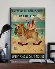 Beach Life Sandy Toes American Cocker Spaniel 11x17 Poster lifestyle-poster-2