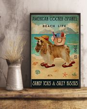 Beach Life Sandy Toes American Cocker Spaniel 11x17 Poster lifestyle-poster-3
