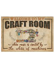 Welcome To My Craft Room Sewing 17x11 Poster front