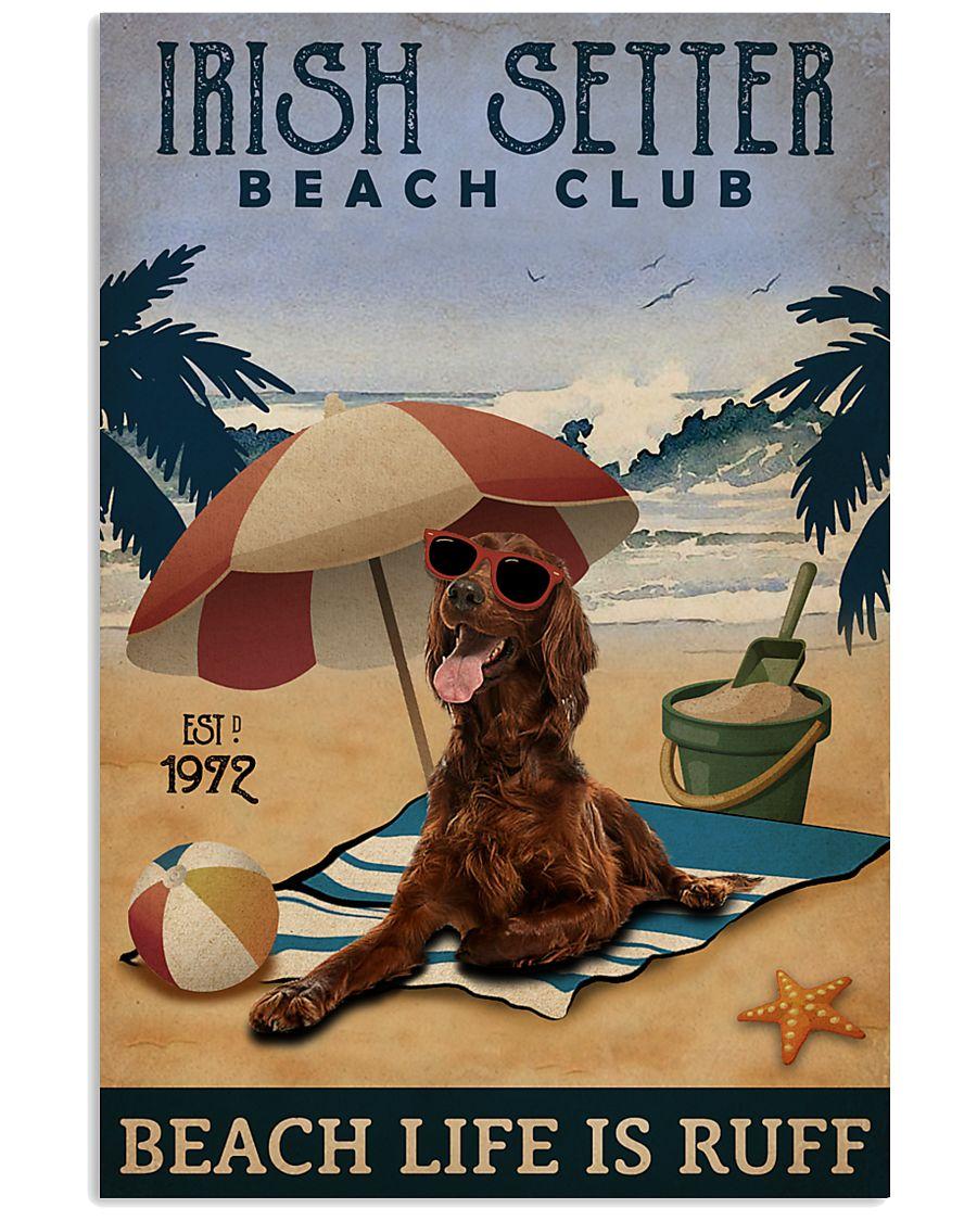 Vintage Beach Club Is Ruff Irish Setter 11x17 Poster