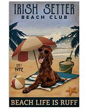 Vintage Beach Club Is Ruff Irish Setter 11x17 Poster front