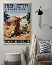 Vintage Beach Club Is Ruff Irish Setter 11x17 Poster lifestyle-poster-1