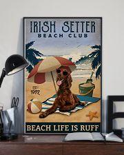 Vintage Beach Club Is Ruff Irish Setter 11x17 Poster lifestyle-poster-2