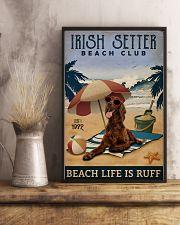 Vintage Beach Club Is Ruff Irish Setter 11x17 Poster lifestyle-poster-3