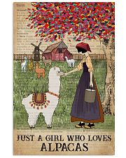 Dictionary Who loves Alpaca Farm Girl 11x17 Poster front