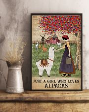 Dictionary Who loves Alpaca Farm Girl 11x17 Poster lifestyle-poster-3