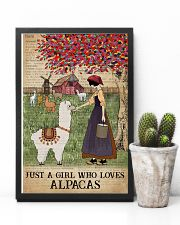 Dictionary Who loves Alpaca Farm Girl 11x17 Poster lifestyle-poster-8