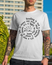 Reading Is Not A Pastime - On Sale Classic T-Shirt lifestyle-mens-crewneck-front-8