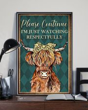 Please Continue I'm Just Watching Highland Cattle  16x24 Poster lifestyle-poster-2