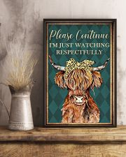 Please Continue I'm Just Watching Highland Cattle  16x24 Poster lifestyle-poster-3