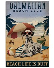 Vintage Beach Club Is Ruff Dalmatian 11x17 Poster front