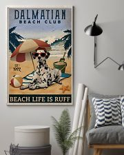 Vintage Beach Club Is Ruff Dalmatian 11x17 Poster lifestyle-poster-1