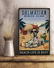 Vintage Beach Club Is Ruff Dalmatian 11x17 Poster lifestyle-poster-3