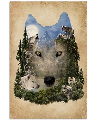 Moon Wolf Surreal Animal Nature Forest