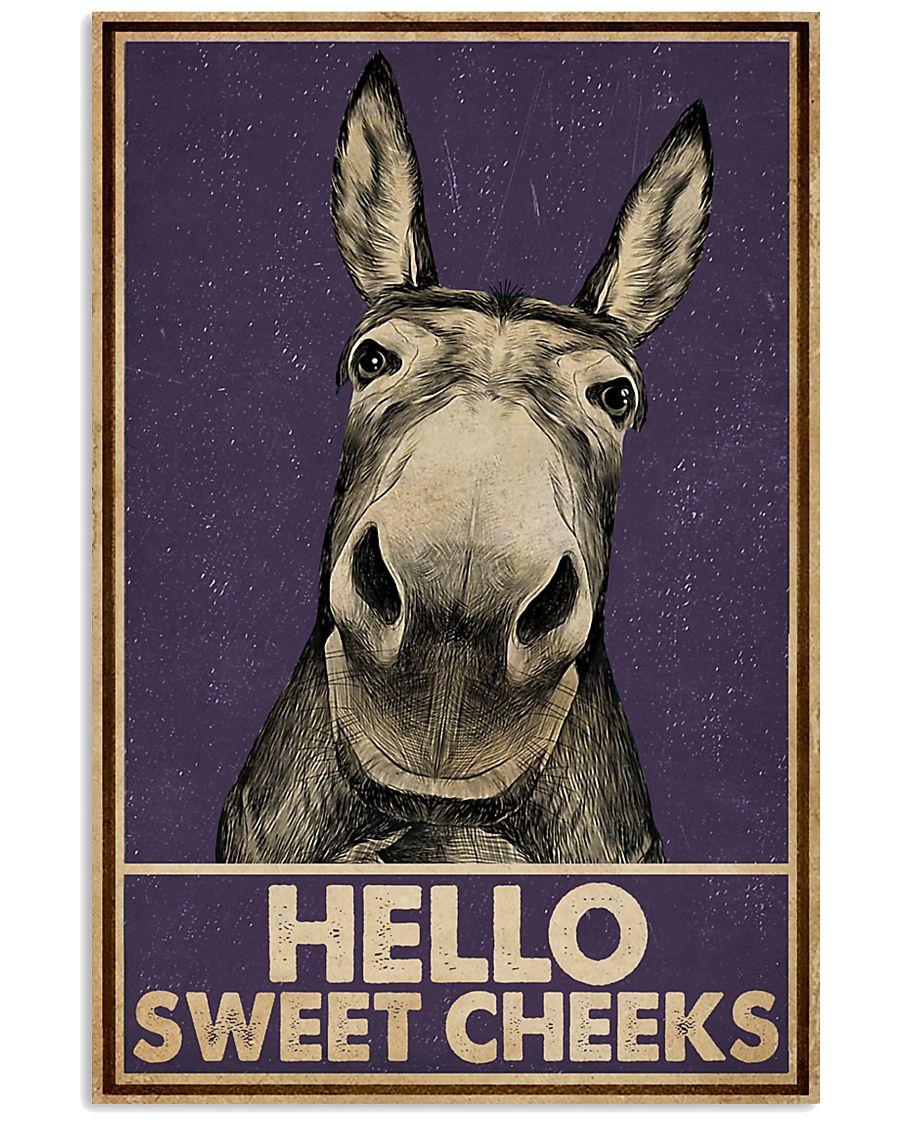 Purple Hello Sweet Cheek Donkey 16x24 Poster
