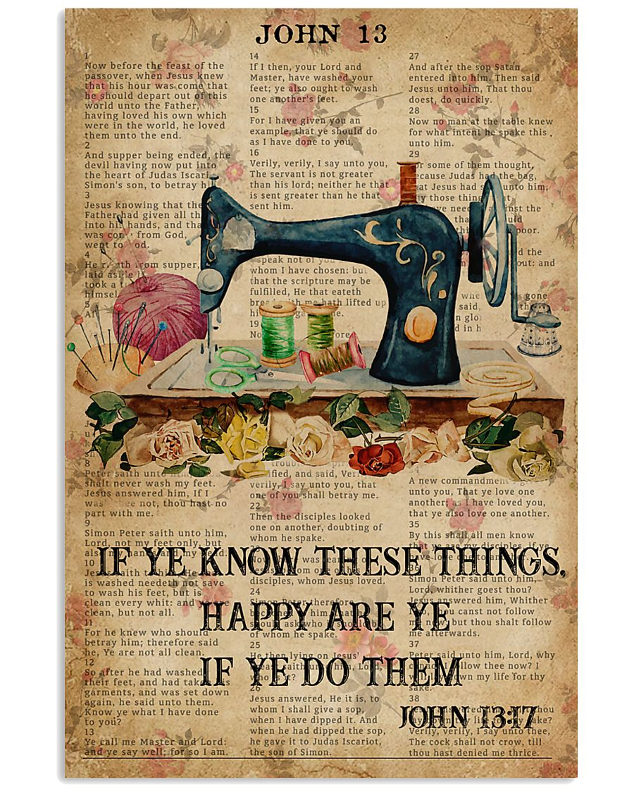 Happy Are Ye If Ye Do Them Sewing Bible 11x17 Poster