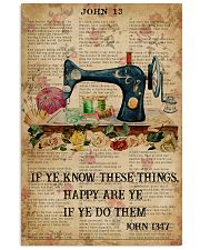 Happy Are Ye If Ye Do Them Sewing Bible 11x17 Poster front
