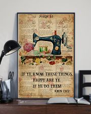 Happy Are Ye If Ye Do Them Sewing Bible 11x17 Poster lifestyle-poster-2