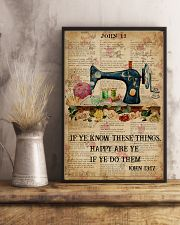 Happy Are Ye If Ye Do Them Sewing Bible 11x17 Poster lifestyle-poster-3