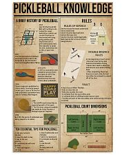 Pickleball Knowledge 11x17 Poster front