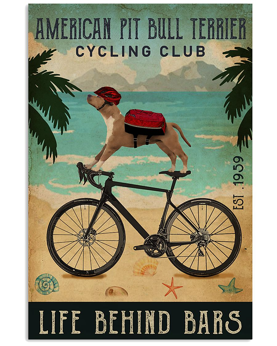 Cycling Club American Pit Bull Terrier 11x17 Poster