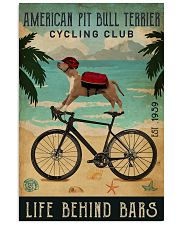 Cycling Club American Pit Bull Terrier 11x17 Poster front