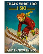 Skiing That's What I Do 16x24 Poster front