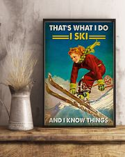 Skiing That's What I Do 16x24 Poster lifestyle-poster-3