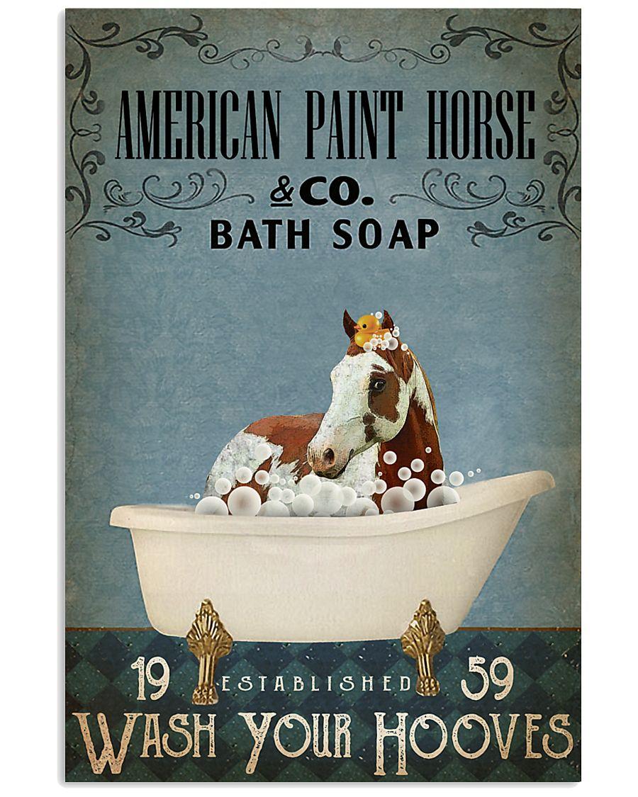 Vintage Bath Soap American Paint Horse 11x17 Poster