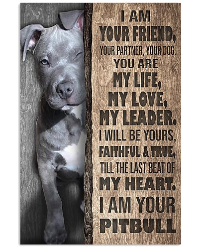 Pit Bull I'm Your Friend Your Partner Your Dog