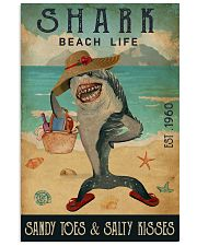 Beach Life Sandy Toes Shark 11x17 Poster front