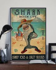 Beach Life Sandy Toes Shark 11x17 Poster lifestyle-poster-2