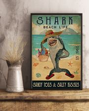 Beach Life Sandy Toes Shark 11x17 Poster lifestyle-poster-3