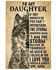 Mom To My Daughter Believe In Yourself Wolf 11x17 Poster front