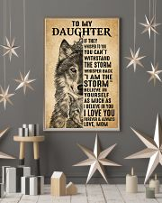Mom To My Daughter Believe In Yourself Wolf 11x17 Poster lifestyle-holiday-poster-1