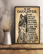 Mom To My Daughter Believe In Yourself Wolf 11x17 Poster lifestyle-poster-3