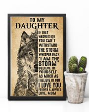 Mom To My Daughter Believe In Yourself Wolf 11x17 Poster lifestyle-poster-8