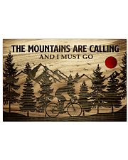 The Mountains Are Calling Cycling 24x16 Poster front