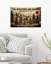 The Mountains Are Calling Cycling 24x16 Poster poster-landscape-24x16-lifestyle-01