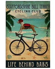Cycling Club Staffordshire Bull Terrier 11x17 Poster front