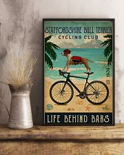 Cycling Club Staffordshire Bull Terrier 11x17 Poster lifestyle-poster-3